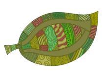 olik leafmodell stock illustrationer