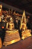 Olik mässing för Buddha grupp Fotografering för Bildbyråer