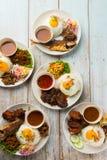 Olik malaysian ris och disk arkivfoto