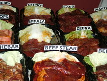 olik meat Royaltyfria Bilder