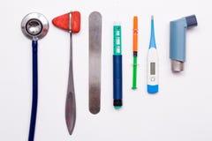 Olik medicinsk utrustning royaltyfri fotografi
