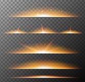 Olik modell av orange ljus på grå bakgrund stock illustrationer