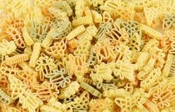 Olik modell av pasta Arkivbild
