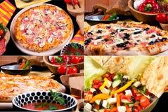 olik pizzasalladsommar Fotografering för Bildbyråer