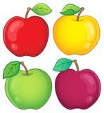 Olik äpplesamling 2 Arkivfoto