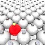 olik röd sphere Arkivfoton