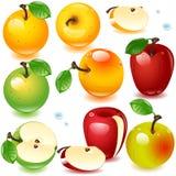 olik set för äpplen Royaltyfri Fotografi