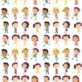 Olik sinnesrörelse av ungar stock illustrationer