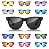 Olik solglasögonuppsättning för Hipster  Royaltyfri Bild