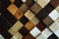 Olik textur och färg av trä, kvadrerar formad härlig bakgrund royaltyfri fotografi