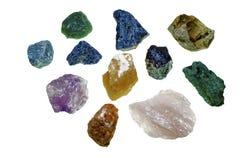 Olik typ av naturliga stenar bredvid de Fotografering för Bildbyråer