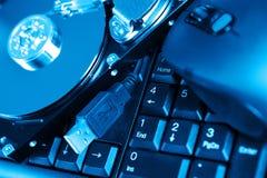 olik utrustning för datorapparater arkivbild