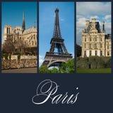 Olik vieuw av Paris Royaltyfri Bild