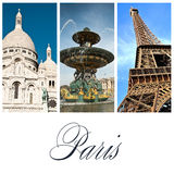 Olik vieuw av Paris Arkivbilder