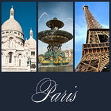 Olik vieuw av Paris Royaltyfria Foton