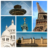 Olik vieuw av Paris Fotografering för Bildbyråer
