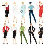 Olik yrkesmässig kvinna i formell kläder Fotografering för Bildbyråer