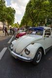 Olika ändringar Volkswagen Beetle som i rad står Arkivbild