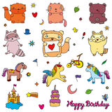 Olika beståndsdelar av designen för barn royaltyfri illustrationer