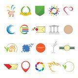 Olika beståndsdelar för logo och rengöringsduk vektor illustrationer