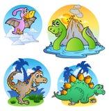 olika bilder för 1 dinosaur Arkivbilder