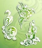 olika blom- fyra seamless tegelplattor för prydnadmodell vektor illustrationer