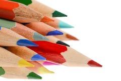 olika blyertspennor för färg Royaltyfri Fotografi