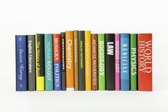 olika bokämnen Arkivfoton