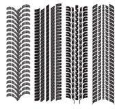 Olika däckdäckmönster Arkivfoto
