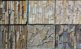 Olika dekorativa tegelplattor och naturliga stenprövkopior Royaltyfria Foton