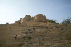 Olika delar av det guld- fortet av Jaisalmer Arkivfoton
