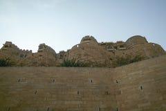 Olika delar av det guld- fortet av Jaisalmer Arkivfoto