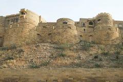 Olika delar av det guld- fortet av Jaisalmer Royaltyfri Fotografi