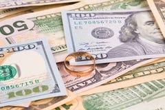 Olika dollarräkningar Royaltyfri Foto