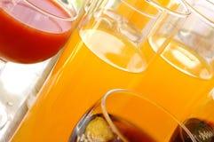 olika drinkar Arkivbilder