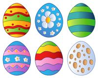 olika easter ägg Arkivfoto