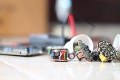Olika elektriska apparater, version 4 Arkivbild