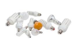 Olika elektriska lampor Royaltyfri Foto