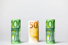 Olika eurosedlar från 5 till euro 500 Fotografering för Bildbyråer