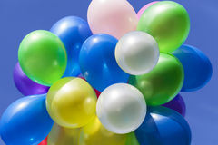 Olika färgade ballonger Royaltyfria Bilder