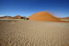 Olika färger av sanden på dyn 45 Arkivfoton