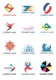 olika företagslogoer stock illustrationer