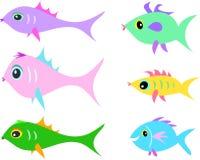 olika fiskmixformer Arkivfoton