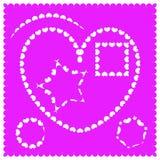 Olika former för ramar av hjärtor vektor illustrationer