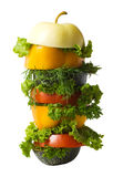 olika frukter blandar grönsaker Royaltyfria Bilder