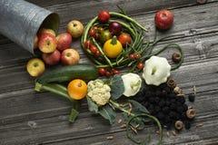 Olika frukter och grönsaker royaltyfri foto