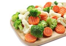 Olika fryste grönsaker Arkivbild