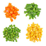 olika fryste set grönsaker Royaltyfri Fotografi