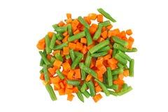olika fryste set grönsaker Arkivfoto