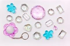 olika gammala stenar för smycken Fotografering för Bildbyråer